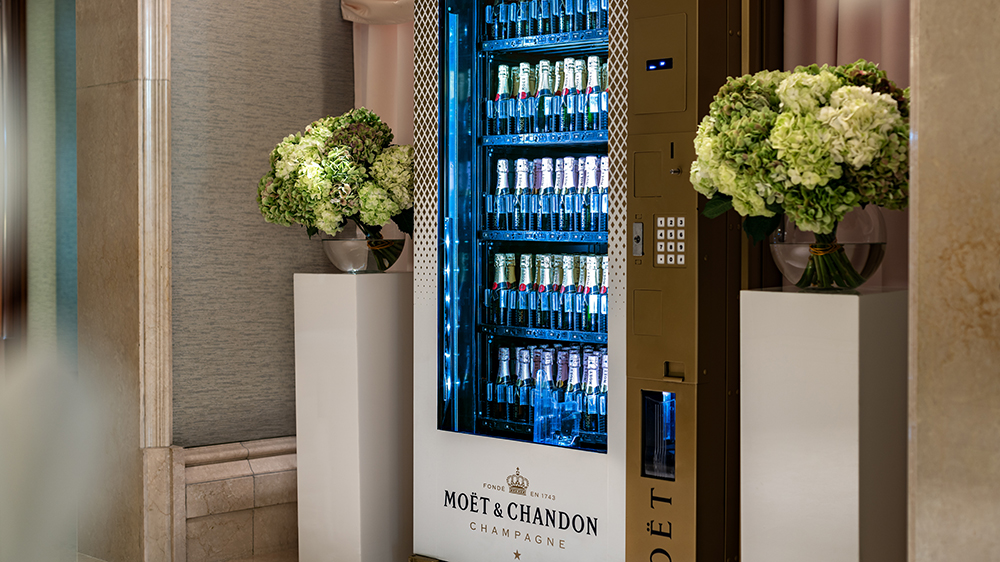 Moët & Chandon Vending Machine at the Ritz-Carlton, Naples