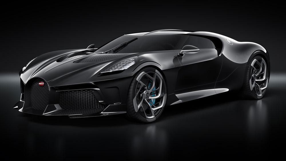 """Bugatti's """"La Voiture Noire"""" debuted at the 2019 Geneva Motor Show."""