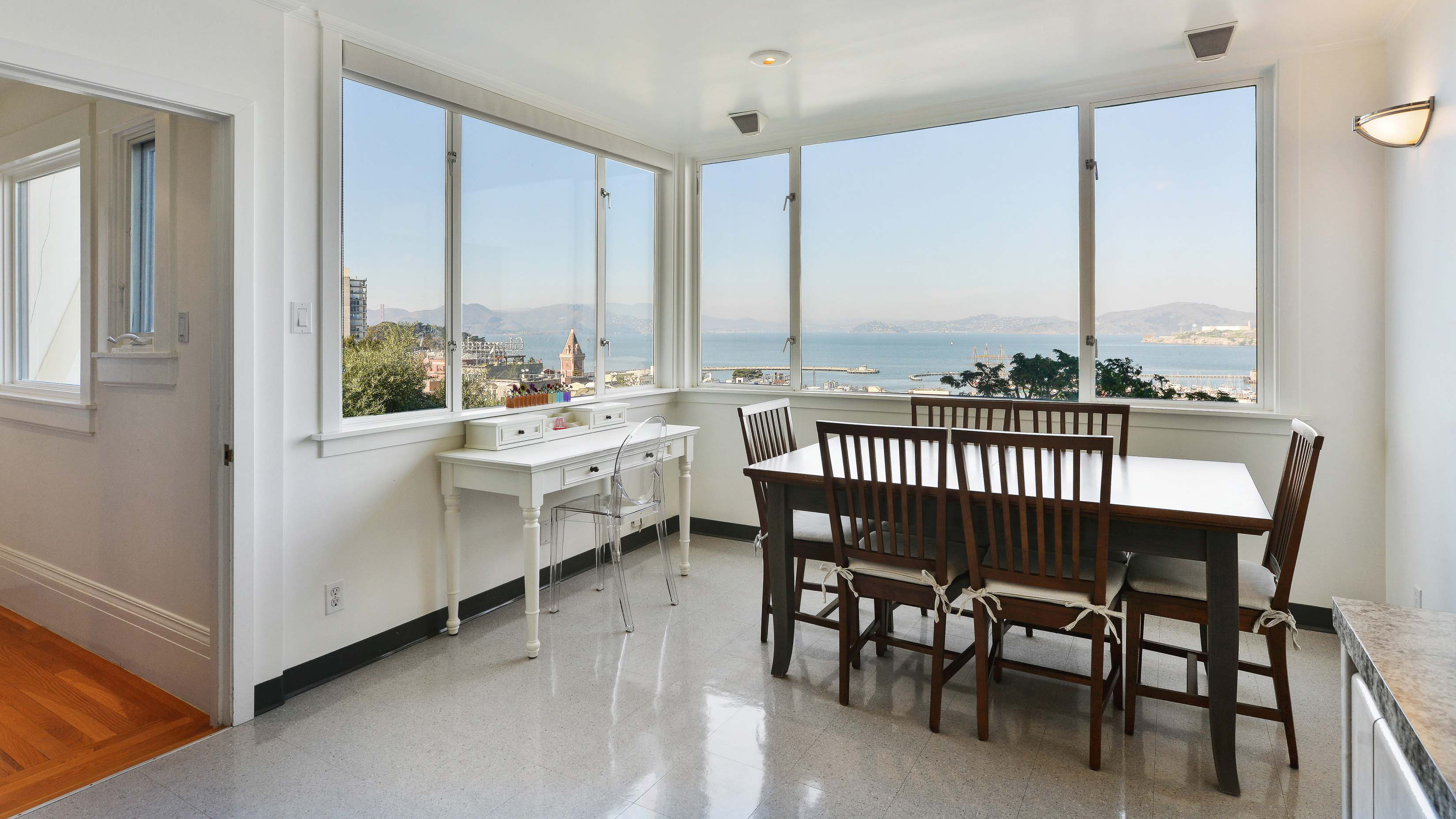 Each floor features breathtaking views of San Francisco Bay.