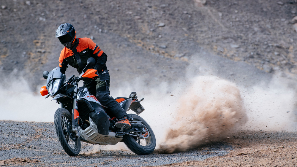 Riding the KTM 790 Adventure R in Morocco.