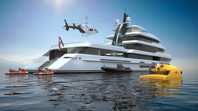 Mulder Design's Project Crystal, powered by a hybrid electric-diesel propulsion system.