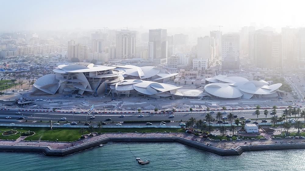 aerial photo modern museum Qatar