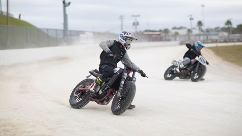 American Flat Track's racing clinic.