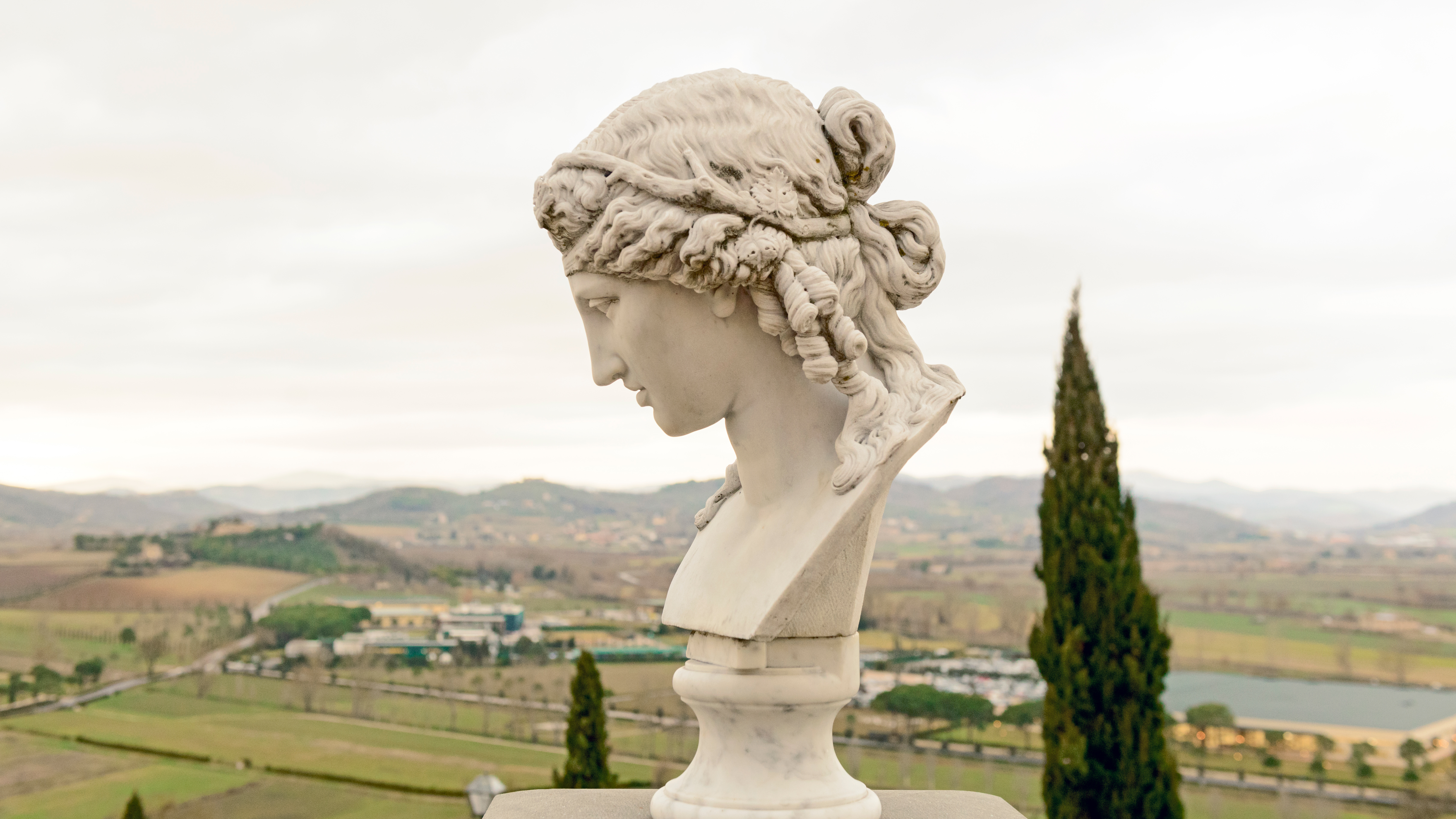 Camilla Cucinelli's Apollo bust, a gift from her father.