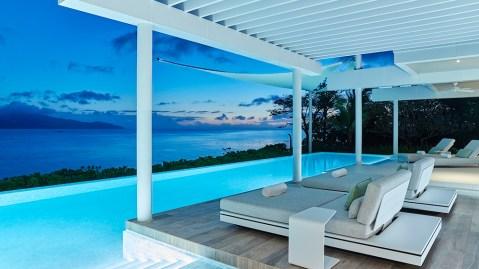 Philippines villa resort beach ocean island sunset