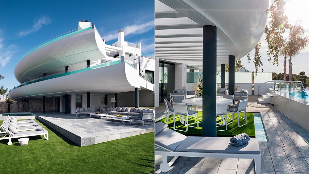 modern architecture pool spa