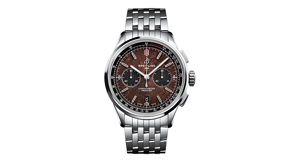 The Breitling Premier Bentley Centenary Limited Edition in stainless steel.