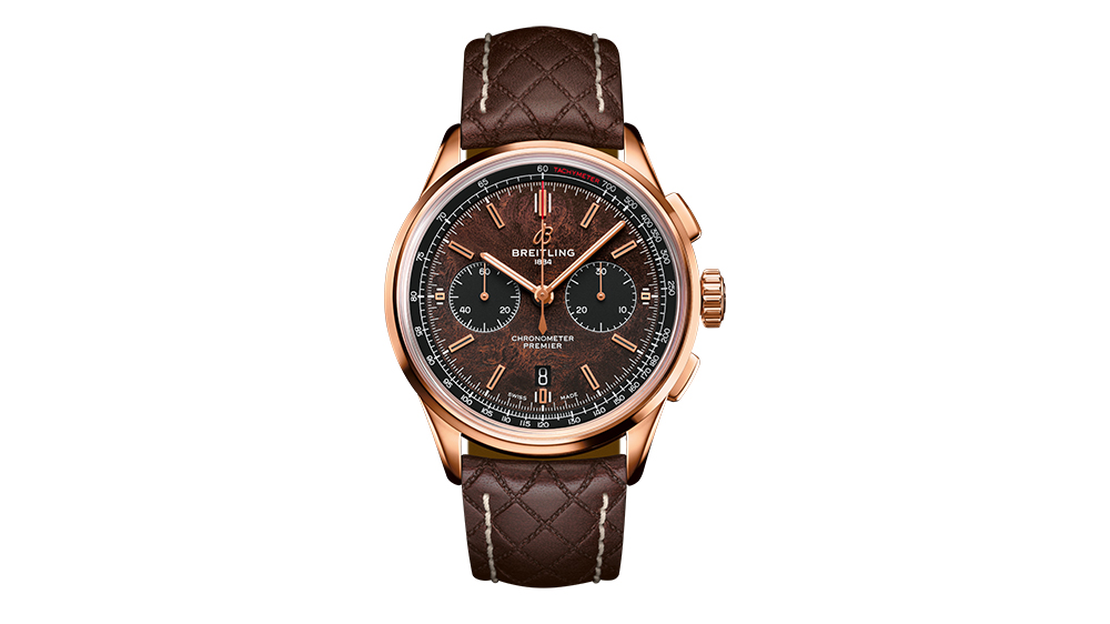The Breitling Premier Bentley Centenary Limited Edition in 18k rose gold.