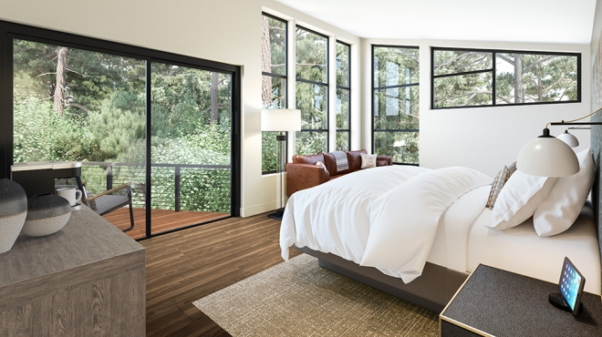 A rendering of the Canyon Ranch Wellness Retreat in Woodside, Calif.