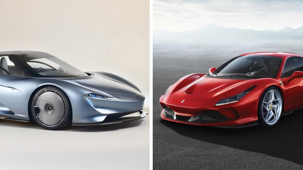 McLaren Speedtail and Ferrari F8 Tributo