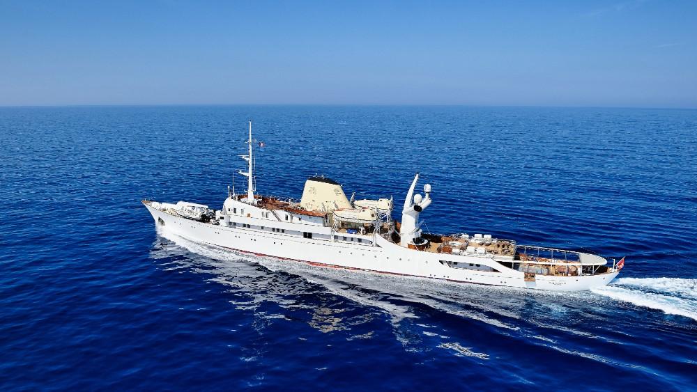 The Christina O at sea.