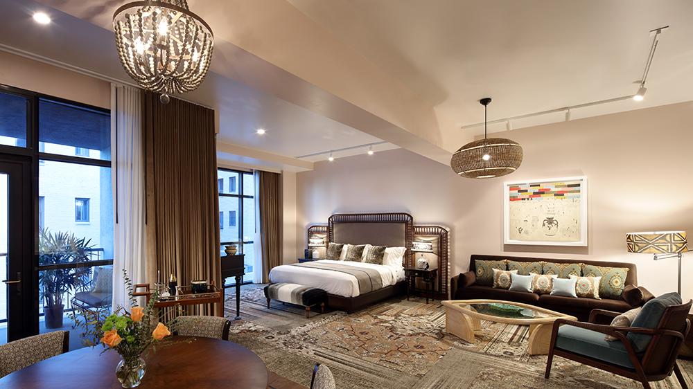 A suite at LA's new h Club