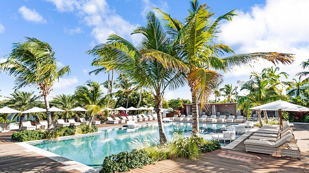 Caribbean resort pool Antigua