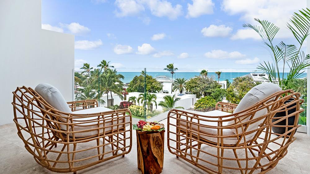 Caribbean resort Antigua balcony beach ocean