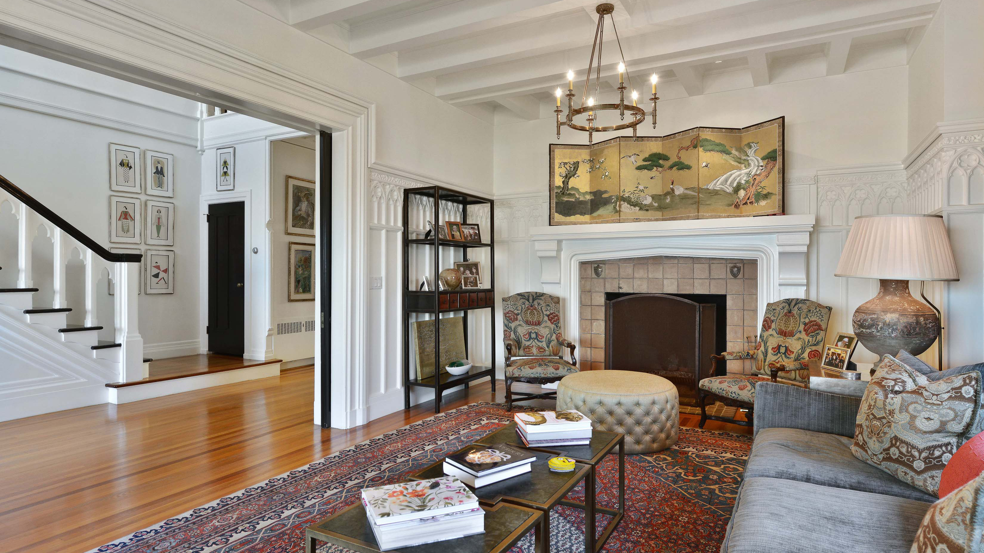 The 6,305-square-foot property's living area.