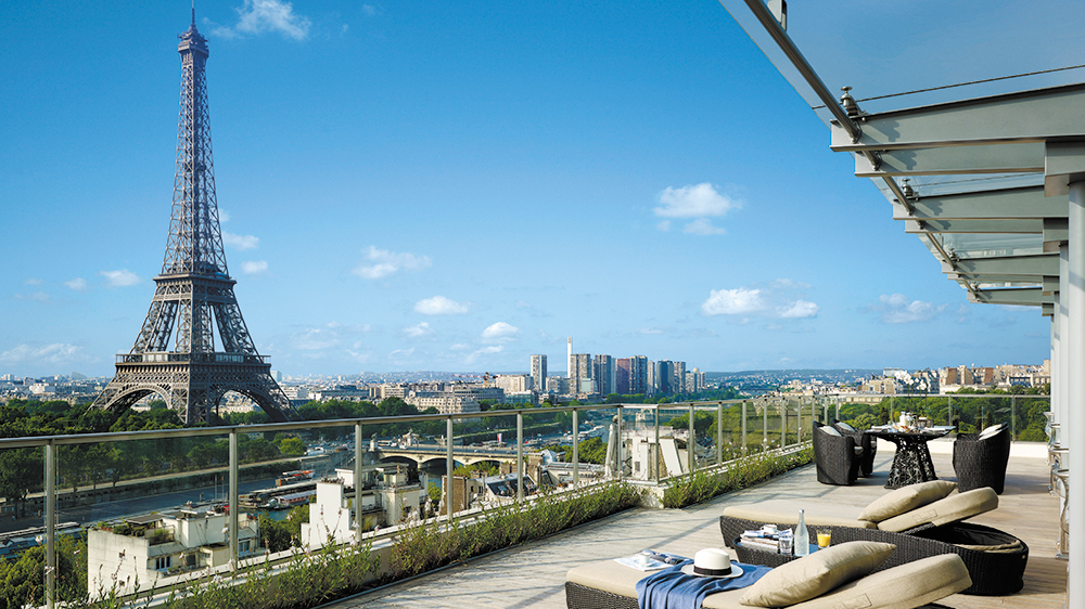 Room service with a view at the Shangri-La Paris's Terrace Suite