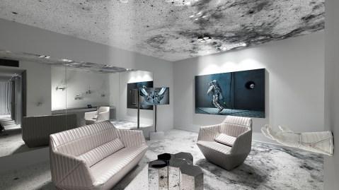 space suite hotel room art Zurich