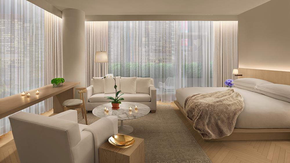 modern hotel suite New York city