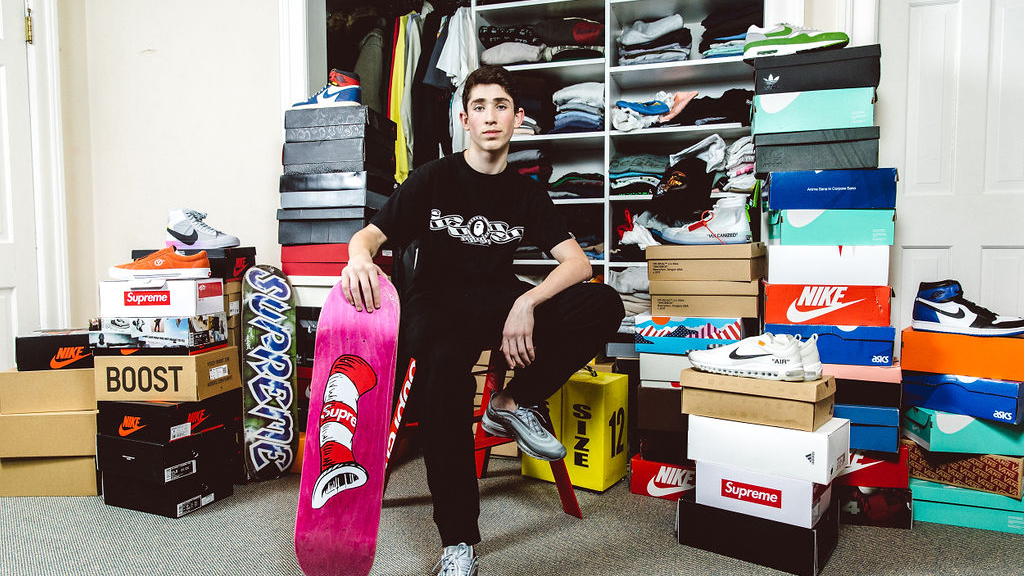 Max Brody, 17, in his Scarsdale bedroom