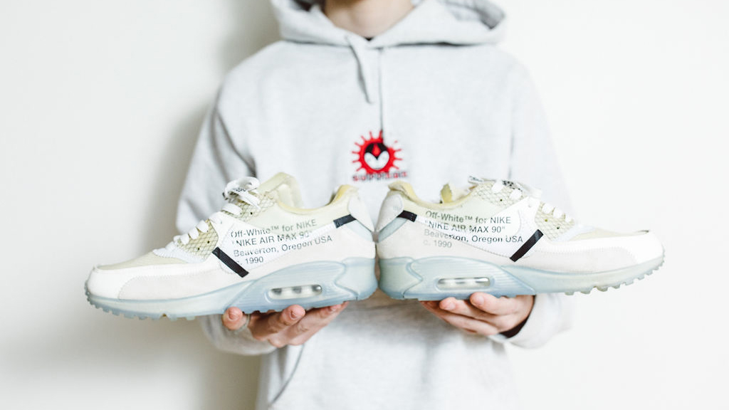Petochi's Nike Off-White Air Max 90, part of the Ten Collection by Virgil Abloh