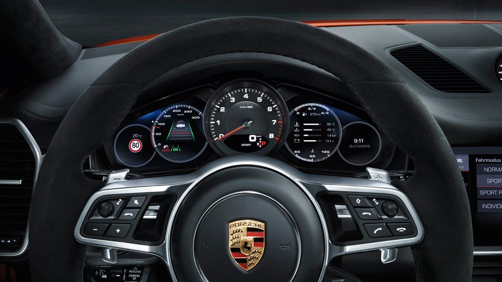Inside the 2020 Porsche Cayenne Coupe.