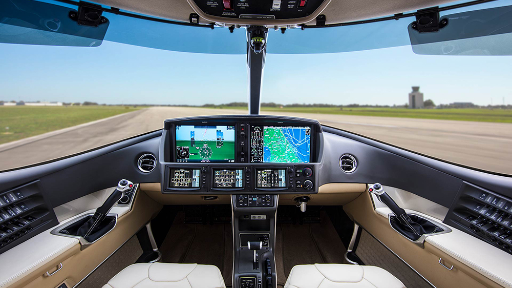 private jet cockpit