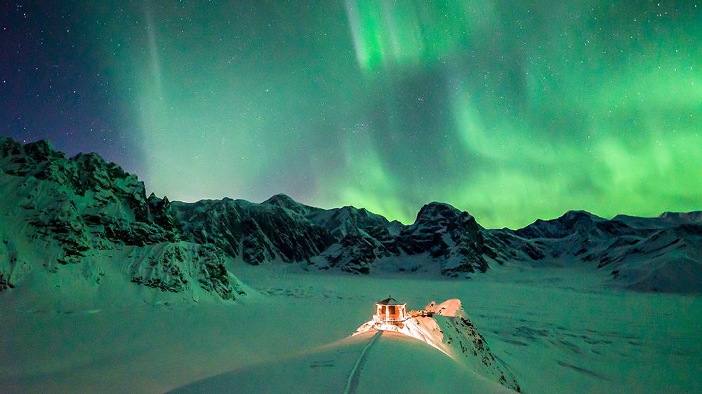 aurora borealis northern lights Denali national park Alaska