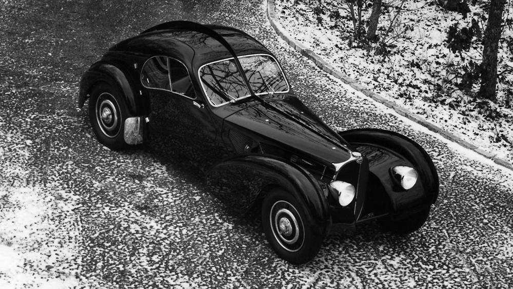 A 1938 Bugatti Type 57 SC Atlantic Coupé.