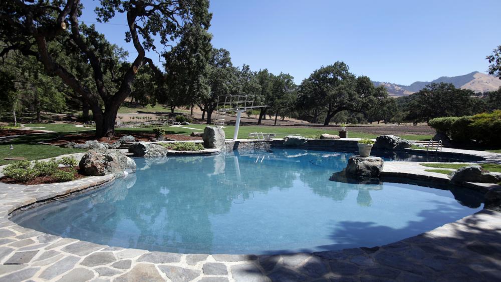 Swimming Pool at Neverland Ranch