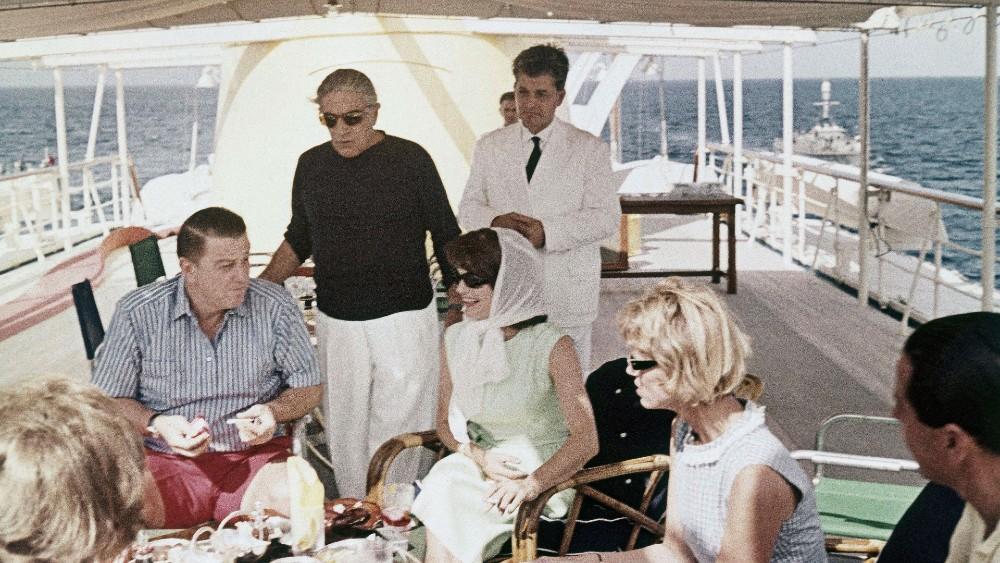 Aristotle Onassis On His Yacht, the Christina O.