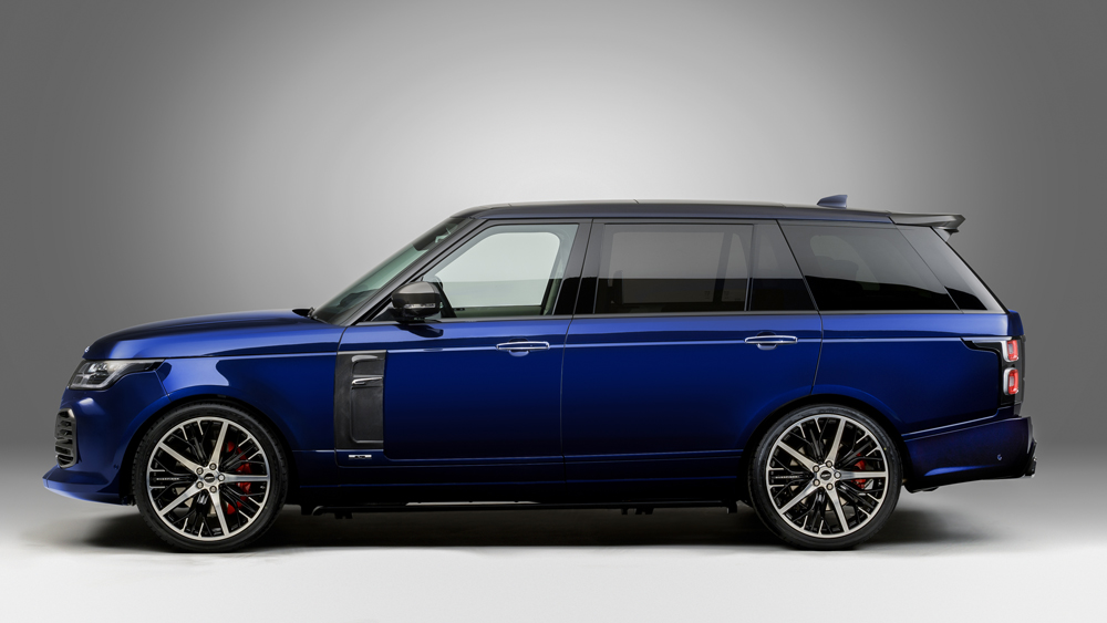 A Range Rover customized by British aftermarket specialist Overfinch.