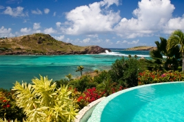 Edge of Pool Overlooking Lagoon on Caribbean Island of St. Barts, French West Indies; Shutterstock ID 75068182; Notes: Muse_Laid-backStBarts