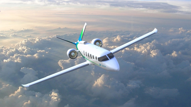 Zunum Aero's model, which is backed by JetBlue and Boeing.