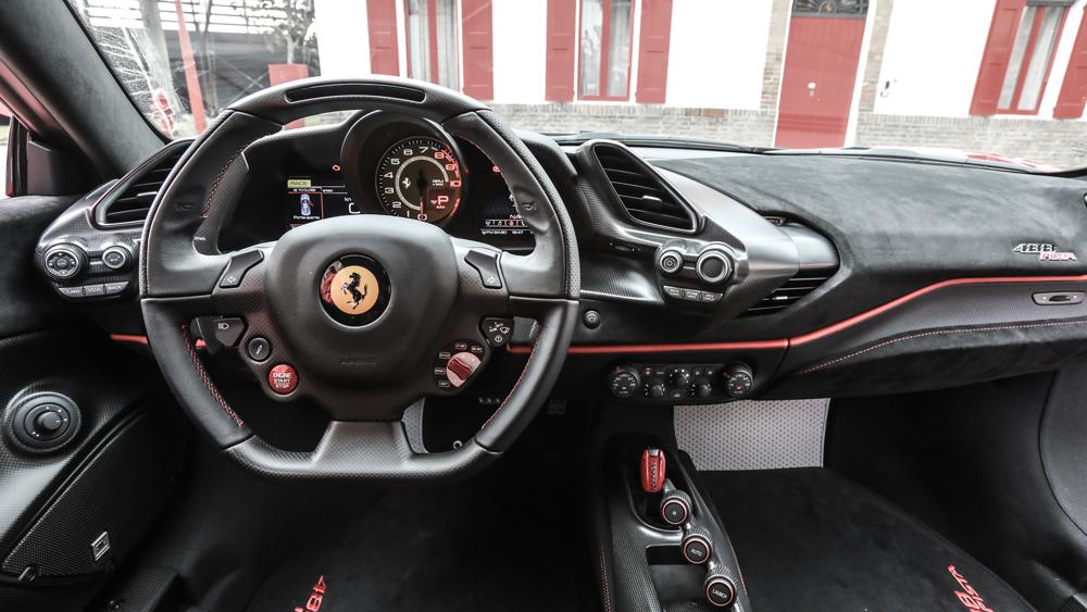 Inside the Ferrari 488 Pista.