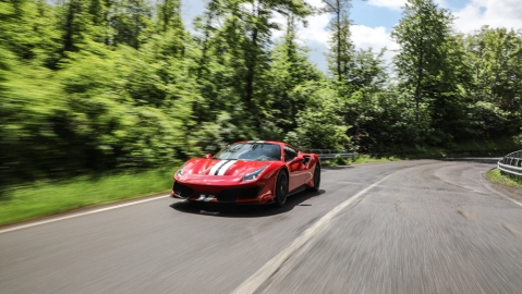 Robb Report Test-Drives the Ferrari 488 Pista.