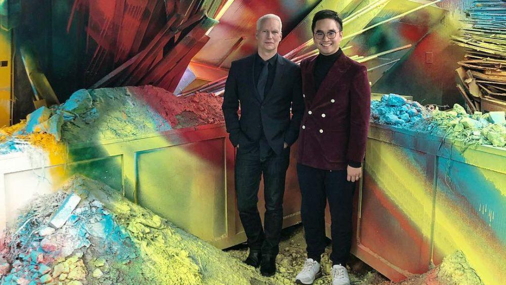 Klaus Biesenbach and MOCA trustee Adrian Cheng.