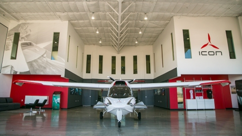 Icon A5 Light Sport Jet Santa monica airport
