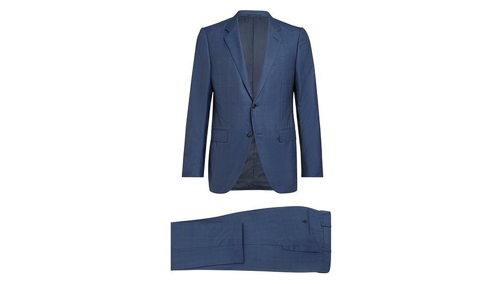 A classic dark Ermenegildo Zegna suit.