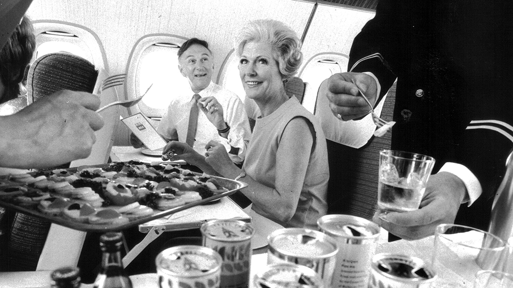 BEA's in-flight meal service during the 1960s