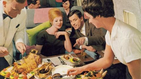 British Overseas Airways Corporation cabin service in-flight meal