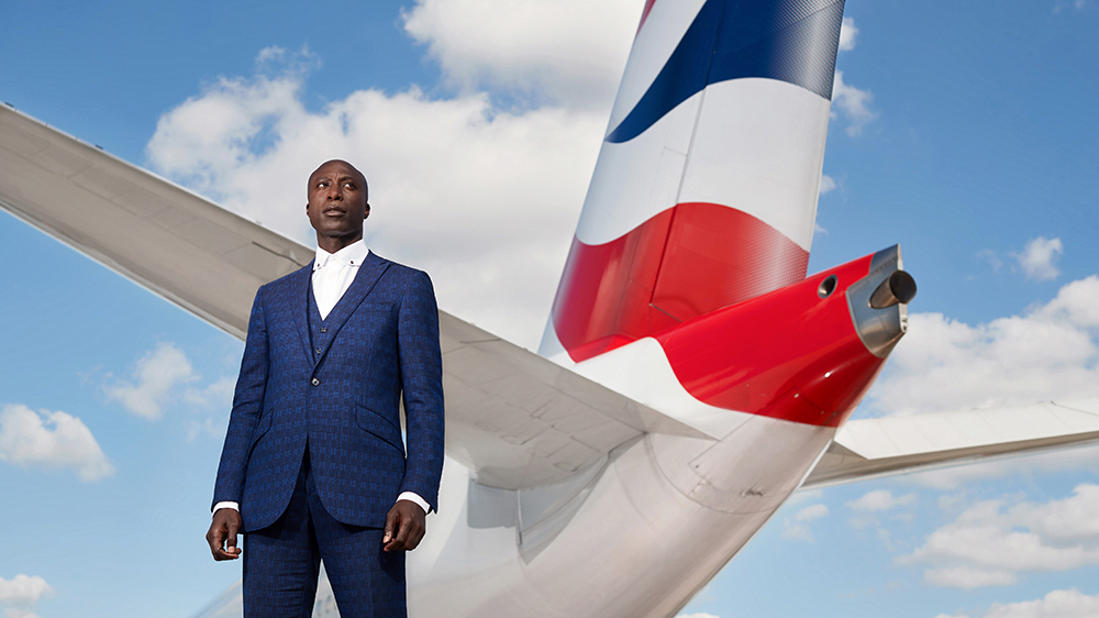 Ozwald Boateng is bringing high style to the skies for British Airways.