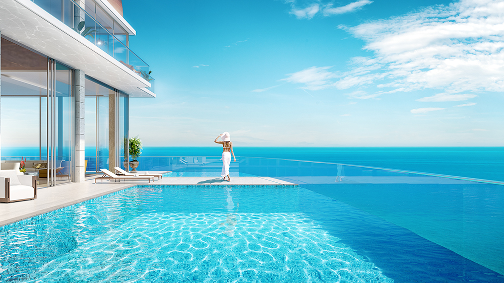 Casa Di Mare penthouse at the top of the new Acqualina 777 tower in Miami