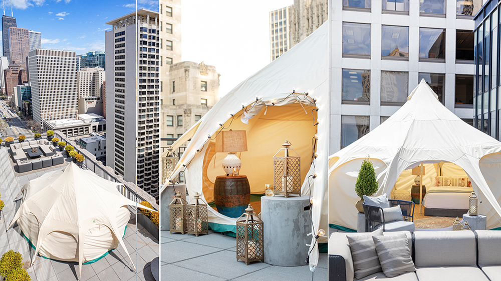 glamping tent Chicago