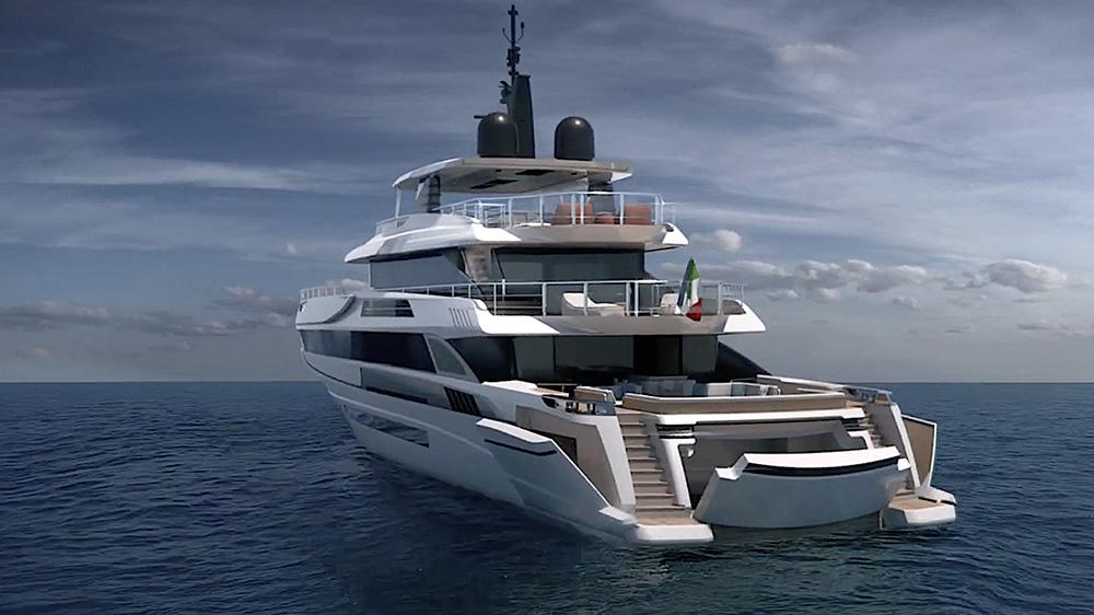 Mangusta Oceano 50 Italian superyacht beach club seawater pool