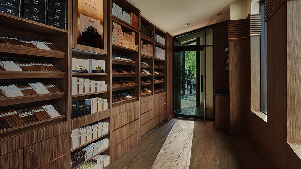 Davidoff of Geneva cigar lounge and walk-in humidor