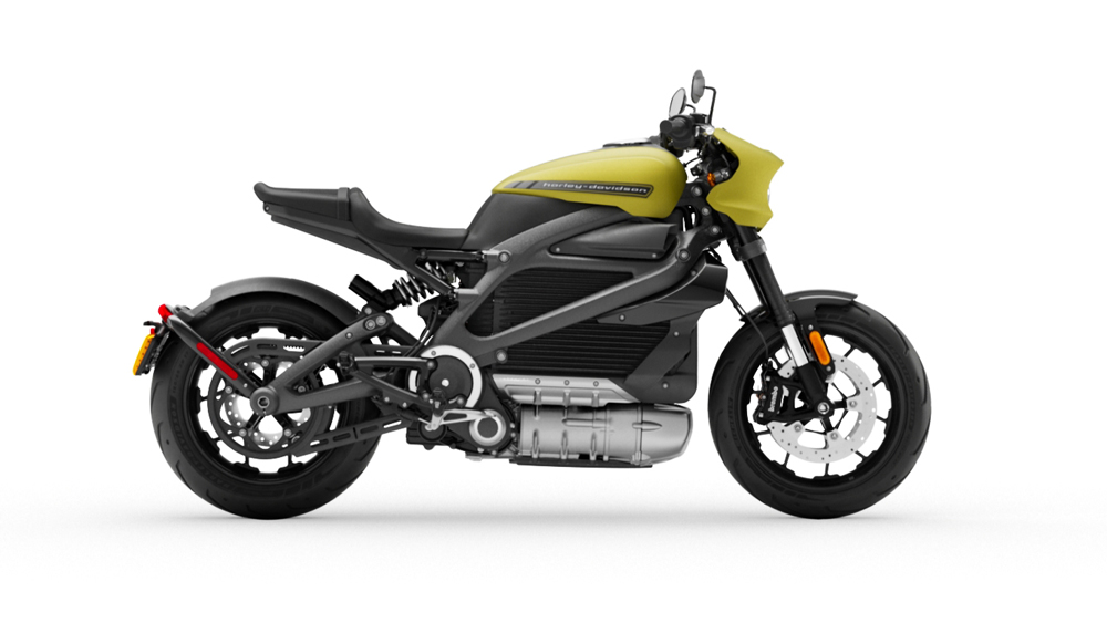 The all-electric LiveWire motorcycle by Harley-Davidson.