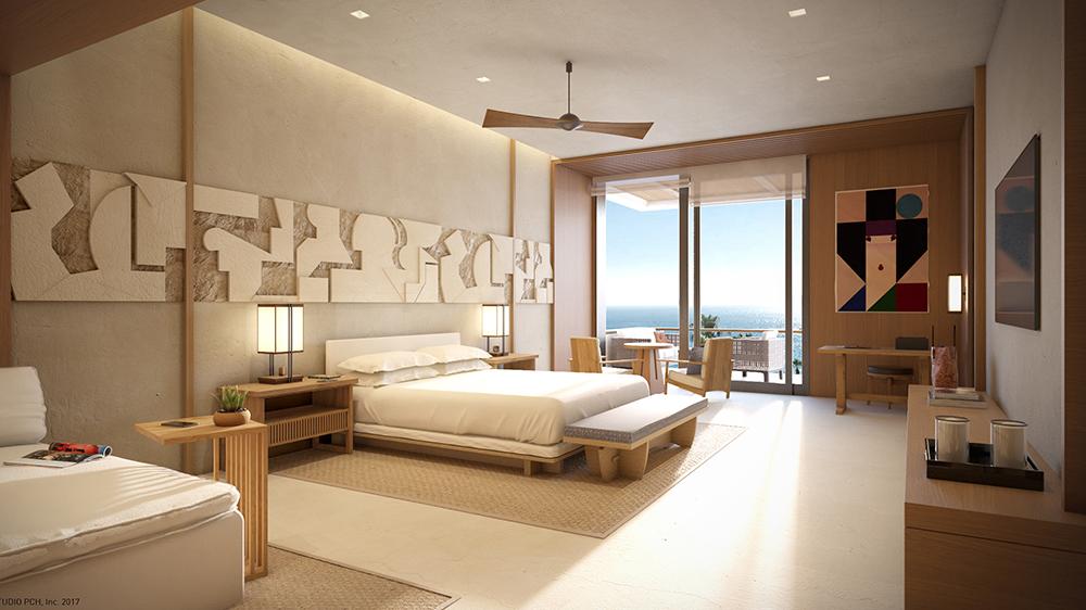 suite hotel Japanese minimalist Mexico Nobu
