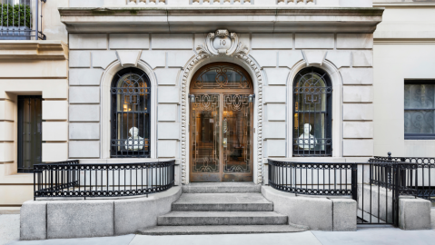 10 East 76th Street's entrance features a gate of solid bronze.