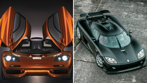 McLaren F1 and the Koenigsegg CCXR