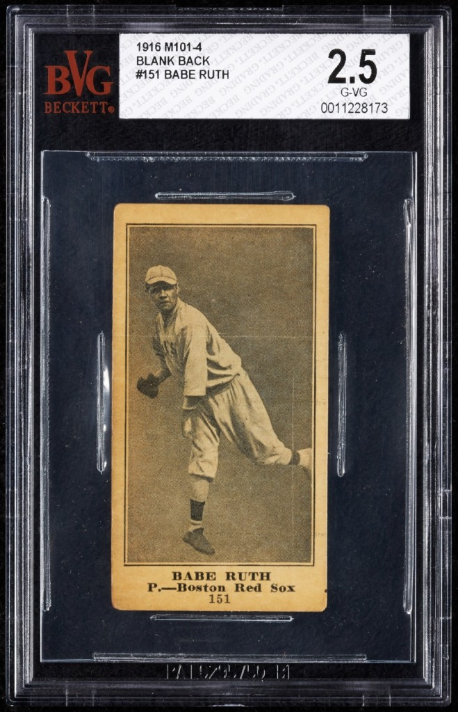 A rare baseball card featuring Babe Ruth is up for auction and could sell for more than $100,000.